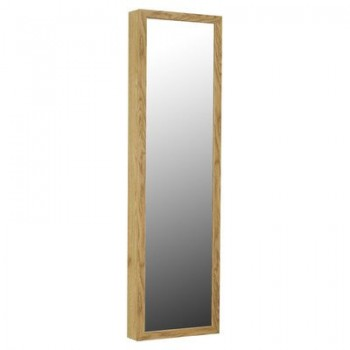 Mirrotek Jewelry Armoire Over The Door Mirror Cabinet Oak Earth
